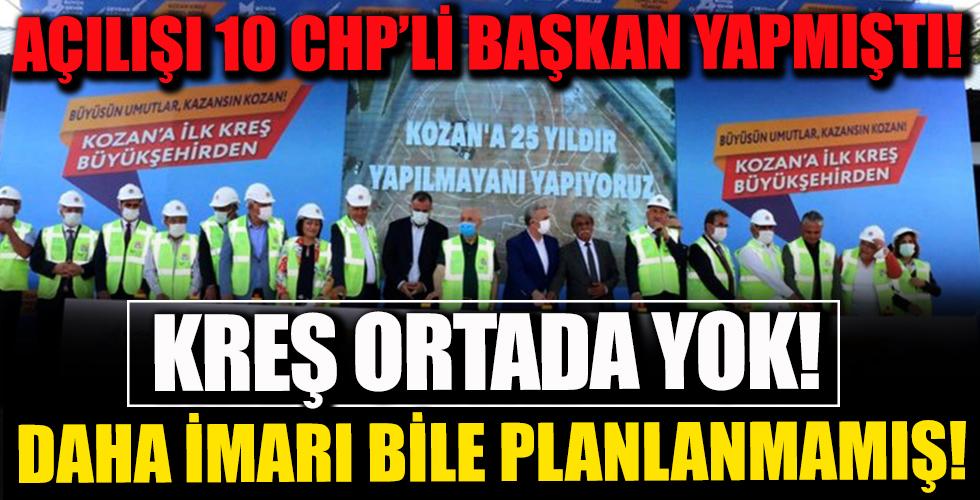 Açılışı 10 CHP'li Başkan Yapmıştı! Kreş Ortada Yok!