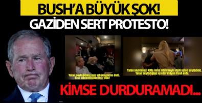 Bush'a Büyük Şok! Gaziden Sert Protesto!