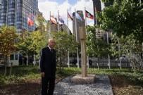 Cumhurbaşkanı Erdoğan BM bahçesinde sergilenen Göbeklitepe dikilitaş replikasını ziyaret etti