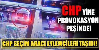 İzmir'de CHP seçim aracı yurt eylemine eylemci taşıdı