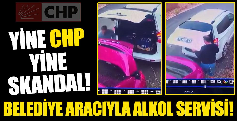 CHP Belediyesi'ne ait araçla alkol servisi!