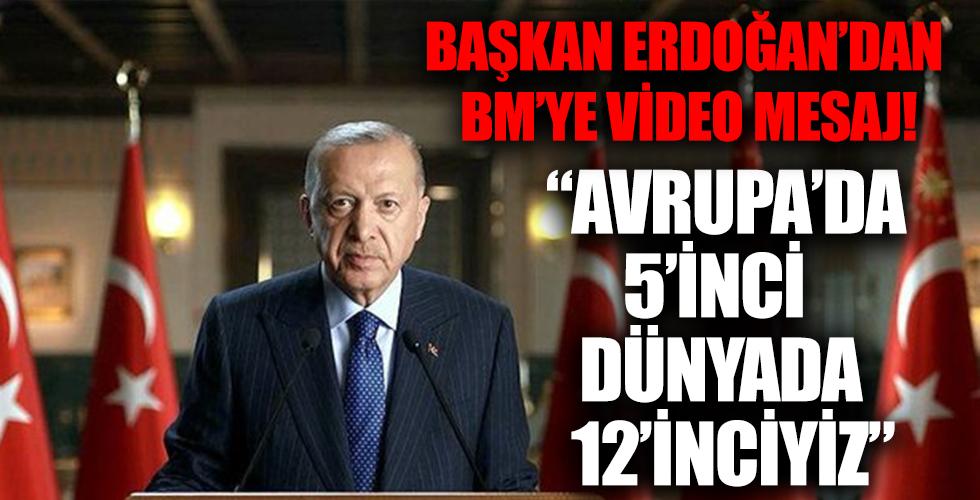 Başkan Erdoğan, 'Birleşmiş Milletler Yüksek Düzeyli Enerji Diyaloğu Toplantısı'na bir video mesaj gönderdi