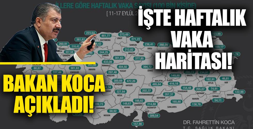 İllere göre haftalık vaka sayısı açıklandı! İşte İstanbul, İzmir ve Ankara'da son durum...