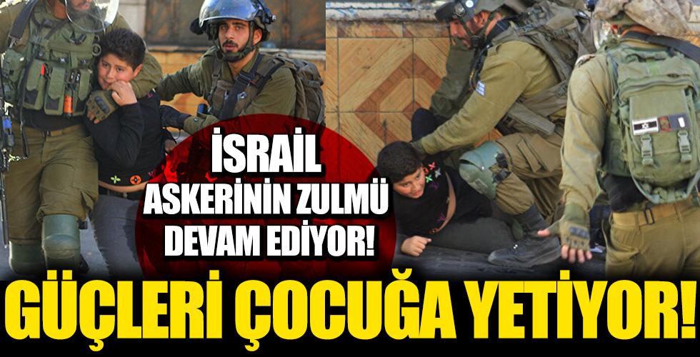 İsrail askerleri 10 yaşındaki Filistinli İsmail'i darp ederek gözaltına aldı