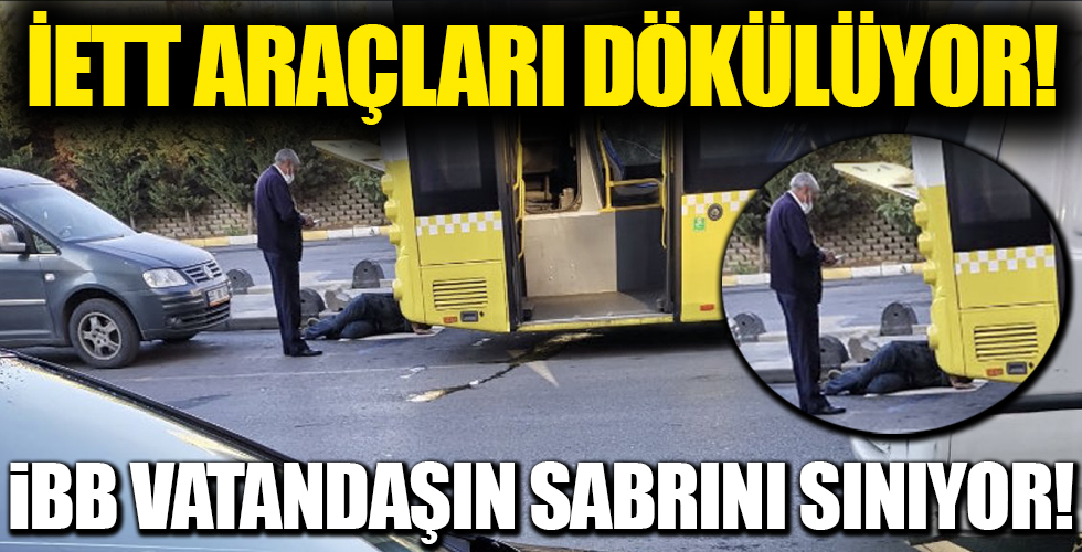 İstanbul'da İETT otobüsü yine arıza verdi!