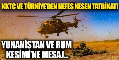 Türkiye ve KKTC'den nefes kesen tatbikat: Yunanistan ile Rum Kesimi'ne dikkat çeken mesaj