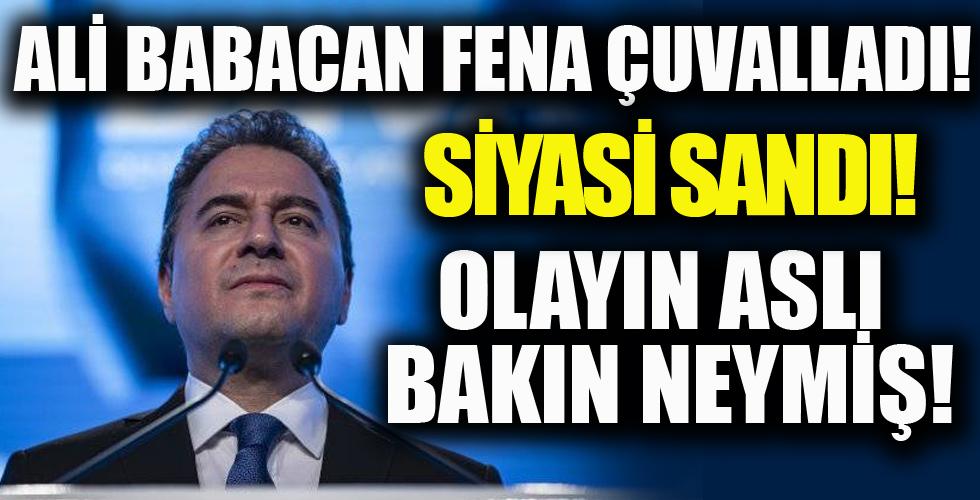 Ali Babacan fena çuvalladı! Siyasi Sandı! Olayın Aslı Bakın Neymiş!