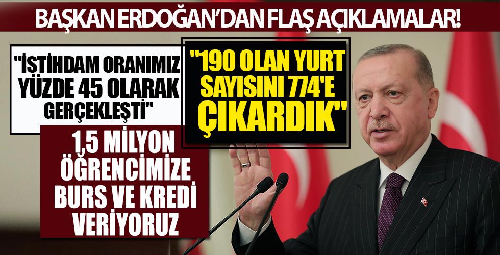 Kabine Toplantısı sona erdi! Başkan Erdoğan'dan öğrenci yurdu eleştirilerine yanıt: 1 milyonu geçti