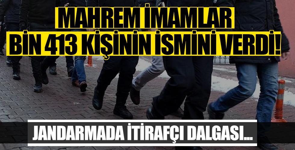 Jandarmada itirafçı dalgası! Mahrem imamlar bin 413 kişinin ismini verdi