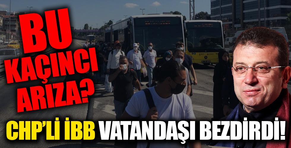 Ne olacak bu işin sonu? CHP'li İBB İstanbulluları bezdirdi! Yine metrobüs arızası...