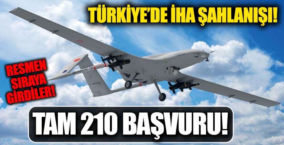 Türkiye'de İHA'da atağa kalktı: 210 proje için başvuru yapıldı