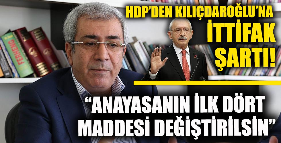 HDP'li Taşıer'den Kılıçdaroğlu'na 'ittifak' şartı: Anayasanın ilk dört maddesi değiştirilmezse Kürt sorunu tartışılamaz
