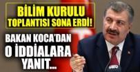 Bilim Kurulu Toplantısı sona erdi! Sağlık Bakanı Fahrettin Koca'dan önemli açıklamalar